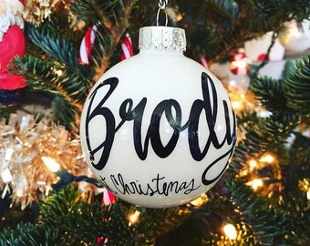 Personalized Name Ornament - Glass