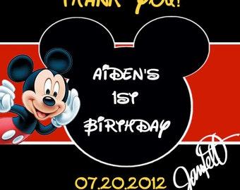 Mickey Mouse Printable Favor Tags