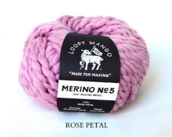 Loopy Mango - Merino No. 5 - Rose Petal
