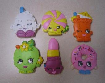 1 Dozen Shopkins Fan Art Hand Decorated Cookies Set 1