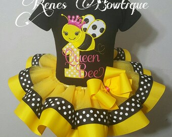 Bumble Bee Ribbon Tutu Set