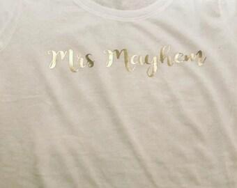 Personalized Mrs Shirt
