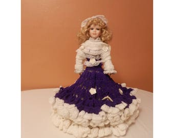 These Handcrocheted Southern Bell Dolls Are  design and ceated by Roseanna Field (EKA) RCF