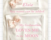 Moon  back or Godmother onesie 1 x bodysuit or 1 x Tshirt or 2 x white bibs or design your own