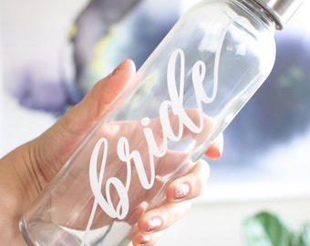 Bride waterbottle / unique bride gift / bride in training / bride workout gear / customized waterbottle / personalized gift / bridesmaid