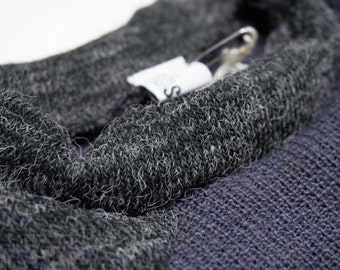 wool sweater with inserts