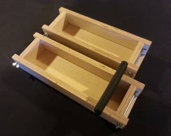 3-1 Lb Adjustable Collapsible SOAP MOLD and Bar CUTTER, Loaf Mold Wooden Wood