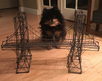 Vintage Brooklyn Bridge Wire Sculpture (Pomeranian probably not included)