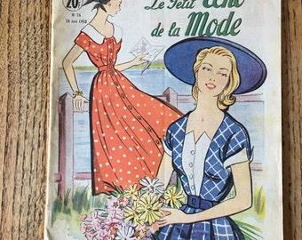 Vintage French Magazine, Le Petit Echo de la Mode, French Magazine, No 26 June 1953