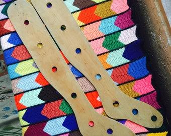Large Thigh High Sock Stretchers, Blockers, Wood