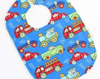 Trucks Baby Bib, Trucks Bib, Firetruck Bib, Car Baby Bib, Car Bib, Baby Boy Bib, Toddler Boy Bib, Boy Bib, Toddler Bib, Fashion Bib, Baby