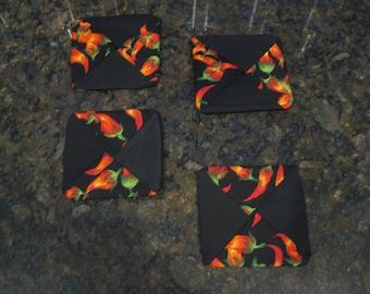 Chili Pepper Coasters - Fabric #30