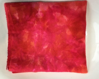 Strawberry Hand Dyed New Wool Fabric, Rug Hooking, Penny Rugs