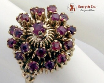 Harem Princess Ring 10 K Gold Rubies