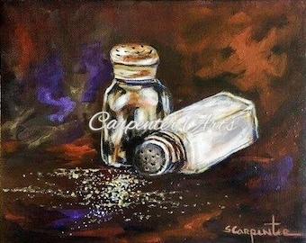 Salt Pepper Shaker Painting Art Cards