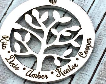 Clearance Sale - Family Tree of Names Premium Customized Pendant, sale, discount, low price, reduced