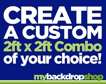 Two 2ft x 2ft Vinyl Photography Backdrops - Create Your Own Custom Combo - Choose Any 2 Designs in Our Shop
