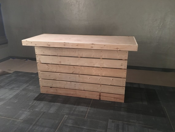 Pallet Style Rustic Dry Bar Reception Desk Or Sales By
