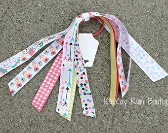Camp Glam Ponytail Streamer - Ponytail Ribbons - Ponytail Holder Ribbons - Ponytail Streamer Ribbons - Camp Glam - Summer Camp Ribbons