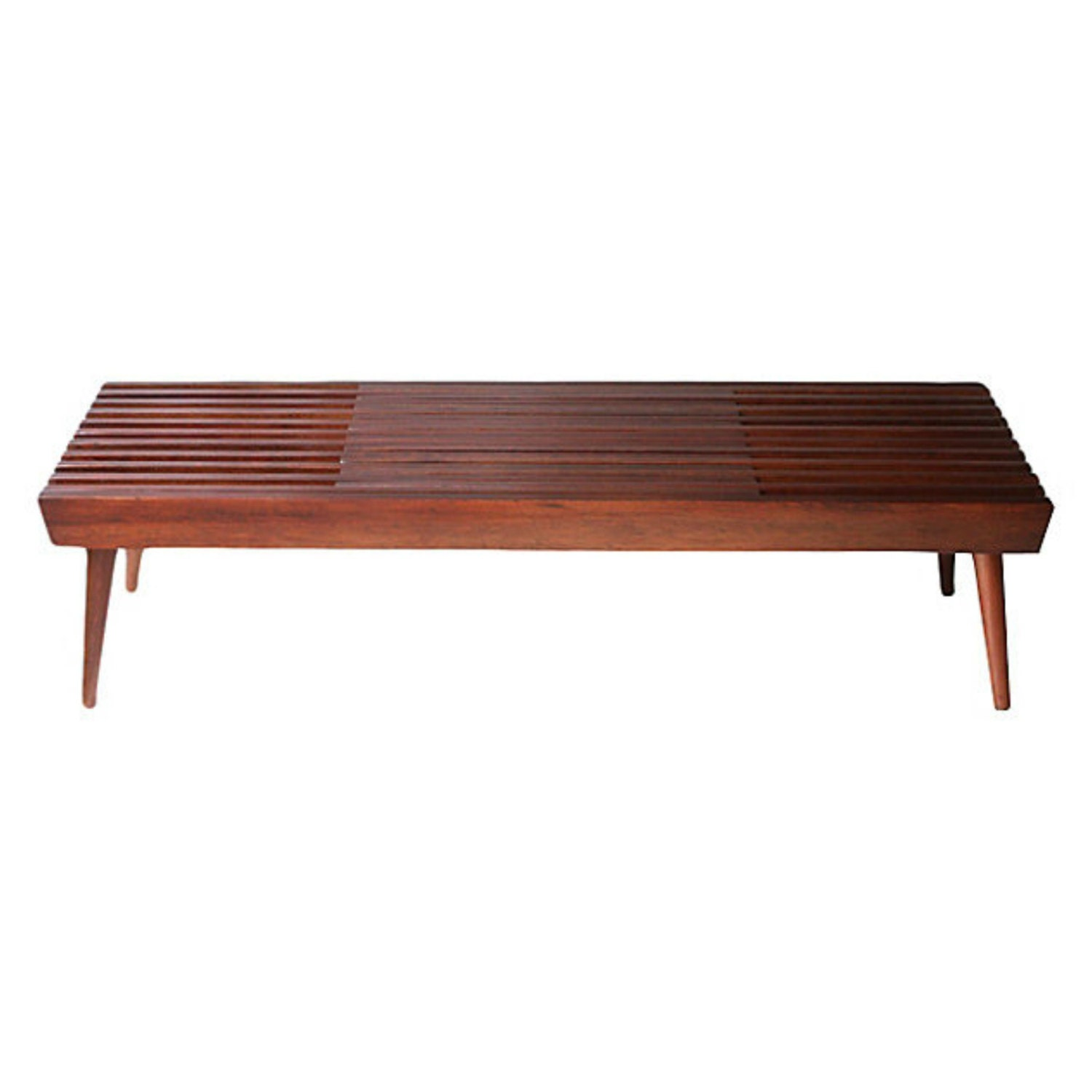 Slatted Coffee Table Walnut Expanding Slat Coffee Table Or Bench Mid Century Modern