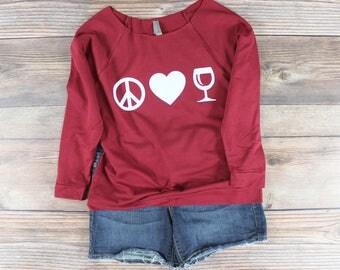 Womens Wine Shirt/ Funny Wine T Shirts/ Will run for Wine Shirt/ Off The Shoulder Shirt/ Wine Festival Shirt/ Womens Graphic Tee/ Wine Later