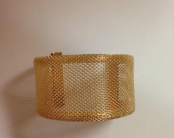 Fashion Charm Gold Tone Bangle Wide Bracelet Punk Cool Jewelry Cuff Bangle