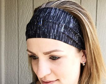 Yoga Headband - The Featherweight Yoga Headband - Solid Workout Headband - Running Yoga Gift - Stretch Headband || space dyed