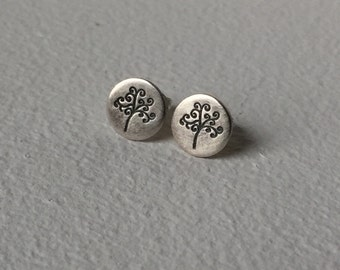 Swirly Tree Stud Earrings