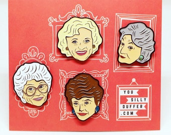 The Golden Girls Enamel Pin Pack!