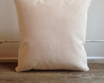 Canvas Pillow Cover - blank cover - Cotton Canvas Pillow Cover - wedding/craft supplies