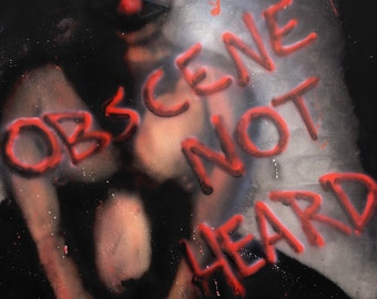 Obscene Not Heard- 13x19 inch prints of Chad Michael's airbrushed kinky bdsm painting