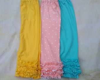 Knit mini  ruffle Capri leggings.