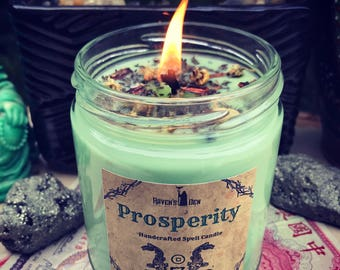 PROSPERITY ~ Spell Candle ~ 8 oz