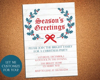 Christmas Party Invitation - Holiday Party
