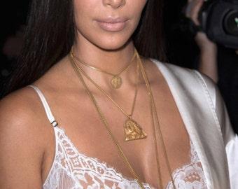 Kim Kardashian long Gold Coin