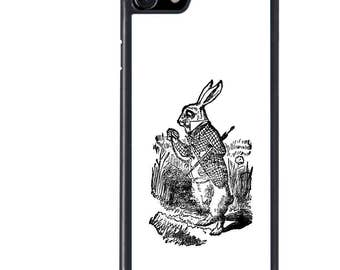 iPhone 5 5s 6 6s 6+ 6s+ SE 7 7+ iPod 5 6 Phone Case, Alice in Wonderland, White Rabbit, Time, Plus