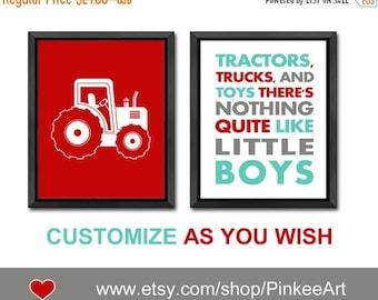 tractor baby boy nursery, tractor toddler decor, tractor boys room decor, tractor playroom art, boy wall art tractor nursery, little boys
