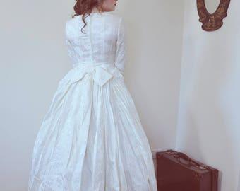 Vintage 50s Wedding Dress Veil In Original Box Lee Delman Shop Display Size 6