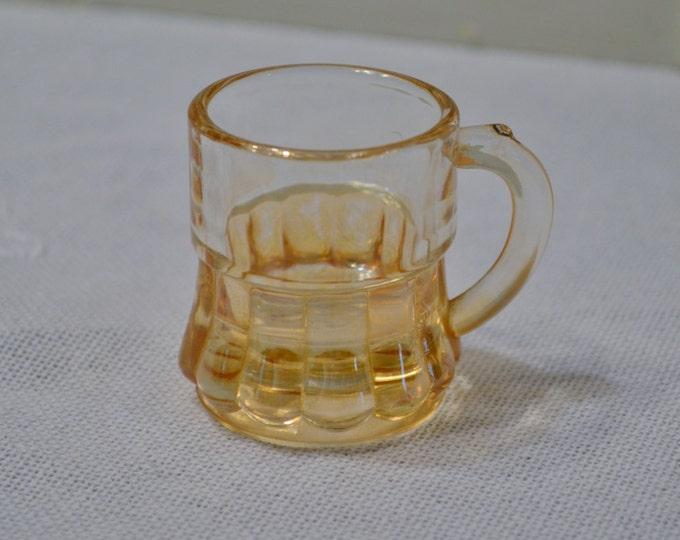 Vintage Barrel Shot Glass Carnival Glass Toothpick Holder PanchosPorch