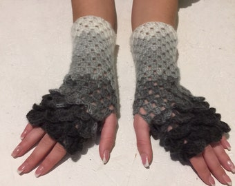 new 2018 dragon gloves Fingerless crocodile stich women fingerless gloves dragon scale  women's gloves women's Arm Warmers  gift Accessory