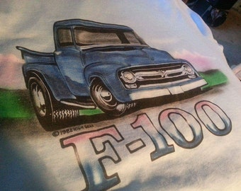 Vintage  classic truck Ford F-150 blue T-shirt - xl