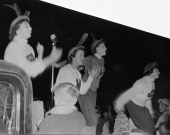 Vintage Photo..Pep Rally, 1950's Original Found Photo, Vernacular Photography, American Social History Photo