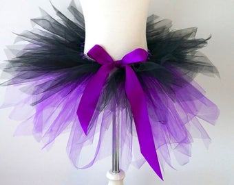 Toddler Tutu - Witch Tutu - Purple and Black Tutu