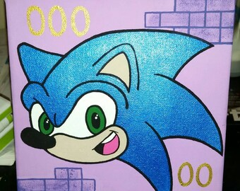 Sonic the Hedgehog 6×6 Painting