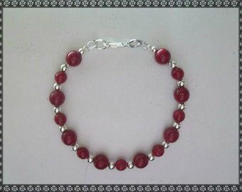 red bracelet, dark red bracelet, red, red and silver, silver, dark red