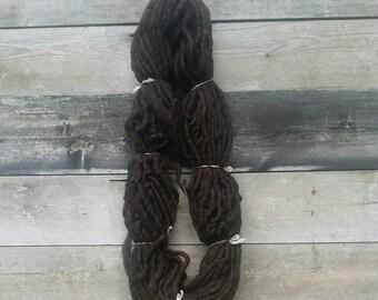 BULK BUY, Black Welsh yarn, super bulky, hand spun,  0.5Kg & 1Kg