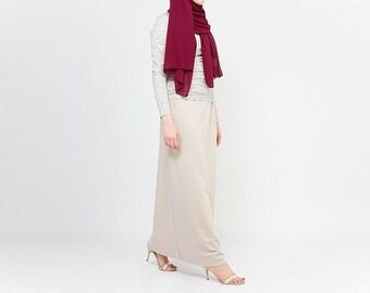 Hijab Obsessions Ponte Maxi Skirt Stone
