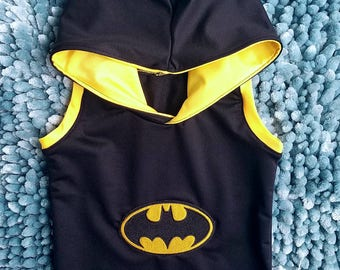 Black/Yellow Batman baby toddler boy tank top hoodie, kids boys Batman tank top hoodie, Batman tee hoodie, Batman baby toddler boy outfit