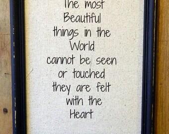 "Helen Keller Print  ""The Most Beautiful Things in The World""- Helen Keller - Wedding - Custom  Nursery - Anniversary Gift"