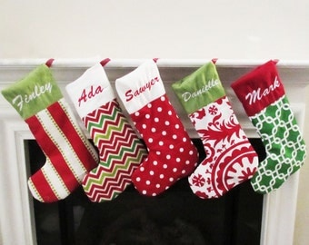 Family christmas stockings | Etsy